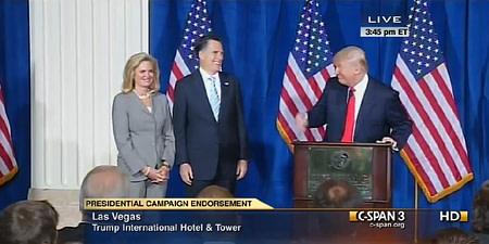 Trump endorse Romney 2012