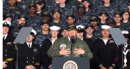 Trump in navy times